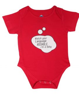 WATCH YOUR LANGUAGE ROMPER