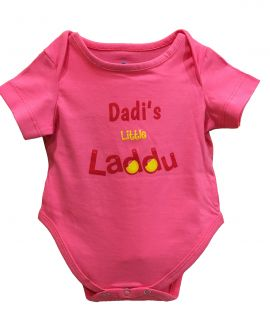 DADIS LITTLE LADDU PINK ROMPER