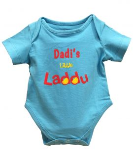 DADIS LITTLE LADDU BLUE ROMPER