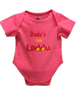 DADDUS LITTLE LADDU PINK ROMPER