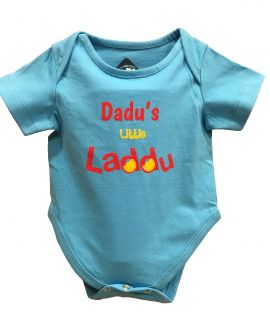 DADDUS LITTLE LADDU BLUE ROMPER